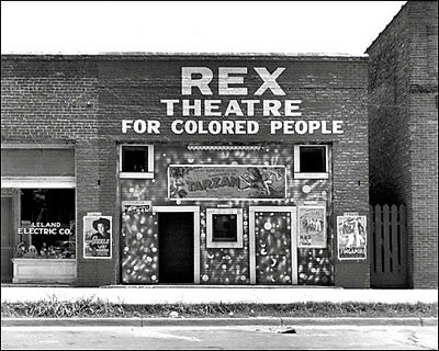Colored Movie Theater Photo 8X10  Leland Mississippi 1937