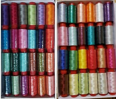 50 SPOOLS OF J&P COATS SEWING THREAD 100% POLYESTER, 50 Different Colours