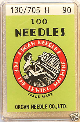 Organ Sewing Machine Needles Universal 130/705H SIZE 90 x BOX of 100 - BLB94