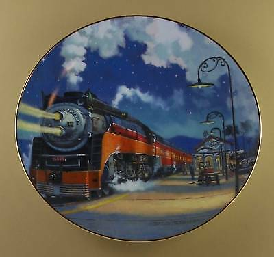 Romance of the Rails STARLIGHT LIMITED Plate Train Station Hamilton Collection