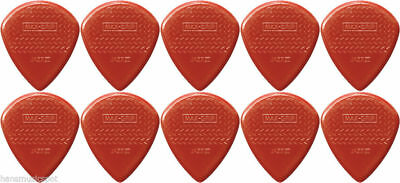 10 X Jim Dunlop Max Grip Jazz 3 Red Guitar Pick *NEW* Jazz III Free Post