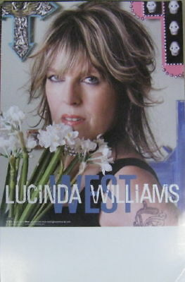 Lucinda Williams West promo poster New!