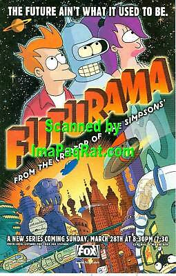 Futurama: Fry, Bender & Leela: A Great 1999- Print Ad