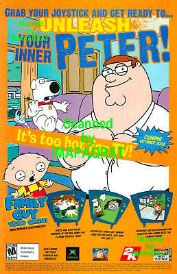 Family Guy XBOX Video Game Peter Brian Stewie Print Ad