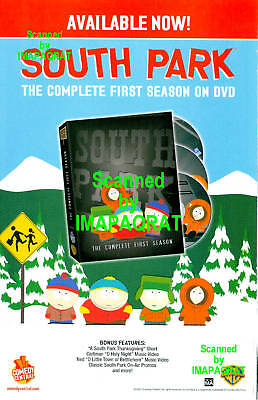 South Park: Comedy Central: First Season: DVD Print Ad