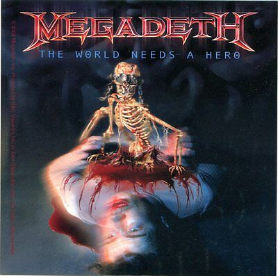 MEGADETH the world needs a hero STICKER