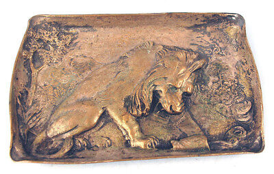 Fine Silver Plated Bronze Gorham Lion Tray for Cigars?