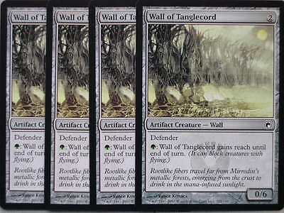 XXX 4x WALL OF TANGLECORD englisch scars of mirrodin  (defender wall reach) NM