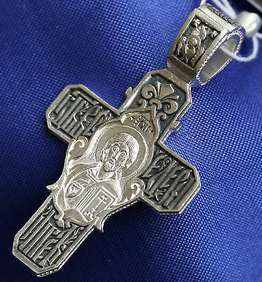RUSSIAN ORTHODOX ICON CRUCIFIX, SILVER. NEW COLLECTION