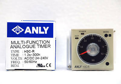 1pc Industrial Timer H3C-R AC/DC 24~240Vin 1.2S~300H ANLY Taiwan