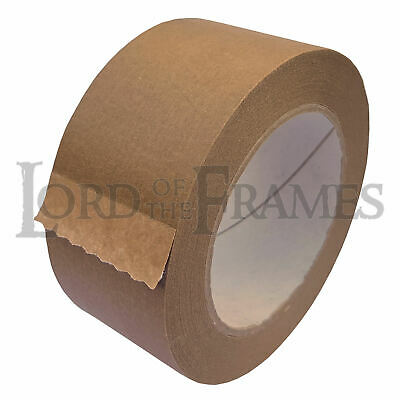 50mm x 50m Brown Self Adhesive Backing Tape Picture Framing Canvas Craft Kraft