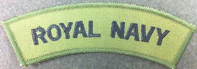 1 Curved Royal Navy Tape In Olive Green