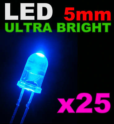 480//25# LED orange 5mm Giga lumineuse 40000mcd 25 pcs