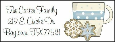 ~WINTER COOKIES & COFFEE CUP~  Return Address Labels!