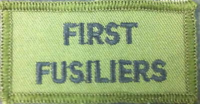 New  First Fusiliers TRF