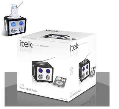 New iTek iPod MP3/4 iPhone Speaker Dock Alarm Clock Radio iPhone Compatible