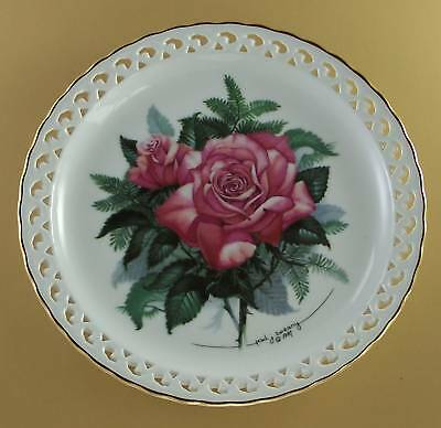AMERICAN HERITAGE The Rose Garden Plate Floral Flower