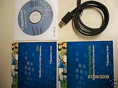 Blackberry Pearl 8130 Manual + User tool Cd + USB Cable