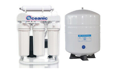 300 GPD Commercial Reverse Osmosis RO Water Filtration System +Pump + 6 Gal Tank