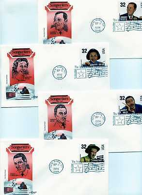 3100-03 Songwriters 4 Artmaster FDCs