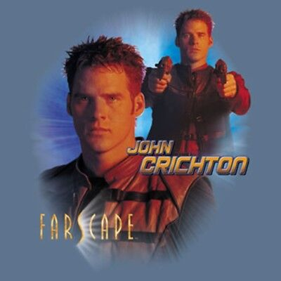 Farscape TV Series John Crichton Collage T-Shirt, NEW