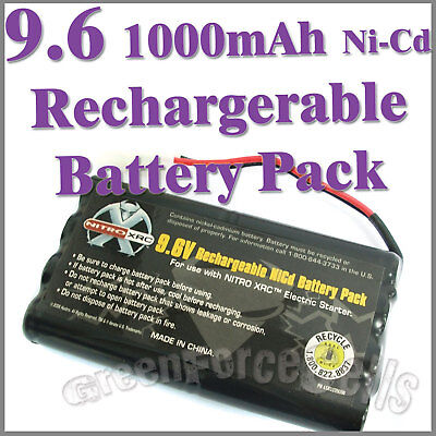 1 pc 9.6V 1000mAh Ni-Cd Rechargeable Battery Pack For RC Car Tamiya Connector