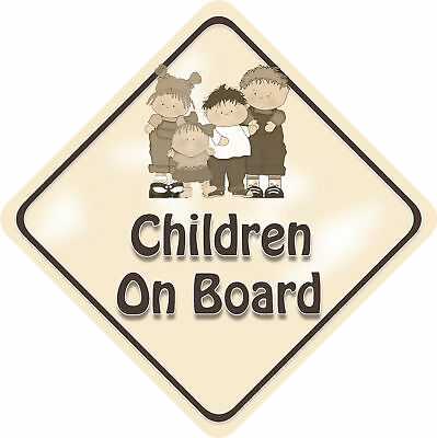 Unpersonalised 4 Children Baby On Board Car Sign