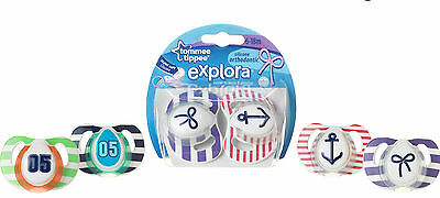 Tommee Tippee Explora Soothers X 2 Bpa Free 6-18M Girls Or Boys