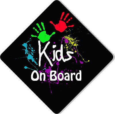 Kids on Board Novelty Car Sign Like Baby/Child On Board