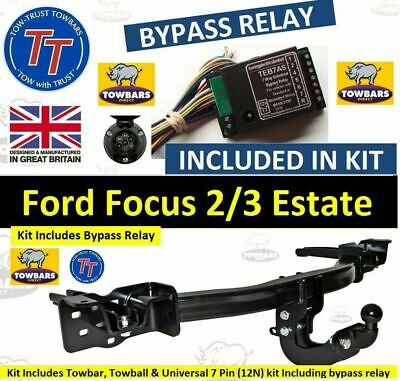 Towbar for Ford Focus Estate Est MK2/3 2005-2018Tow Bar Complete Kit with Bypass