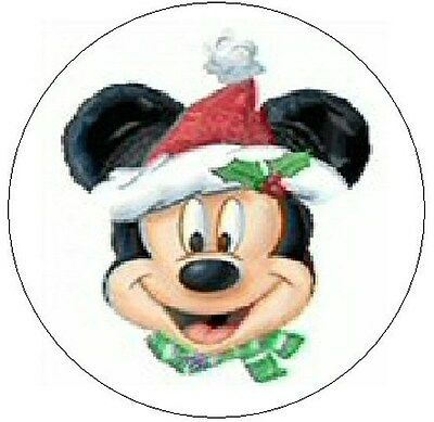 """~CHRISTMAS MICKEY MOUSE~ 1"""" Sticker / Seal Labels!"""