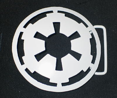 Star Wars Imperial Logo Metal 3-D Belt Buckle White NEW