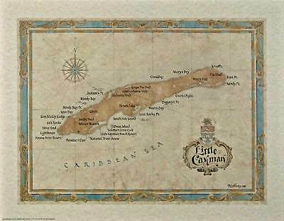 Antique Style LITTLE CAYMAN MAP