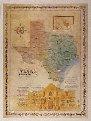 Antique style  LIMITED EDITION TEXAS MAP