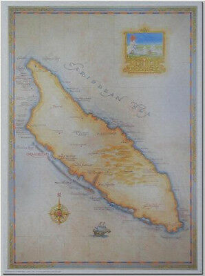Antique style  ARUBA MAP