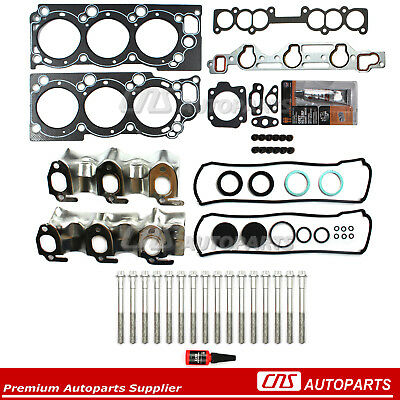 88-95 Toyota Pickup 4Runner T100 Sohc V6 Engine Head Gasket Set & Bolt Kit 3Vze