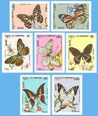 Cambodia Stamp, CAB8611 1986 Butterfly Stamp, Animal