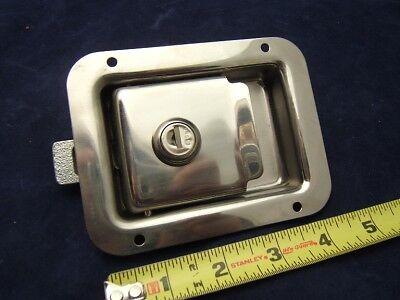 Locking Paddle Latch - Truck / Toolbox / Trailer - NEW - Stainless Steel