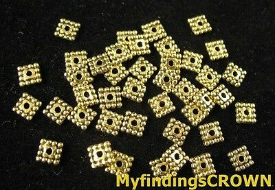 500pcs Antiqued gold tiny star spacer beads 4mm FC218