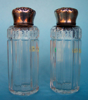 Pair Of Cut Glass & Gorham Victorian Sterling Perfume