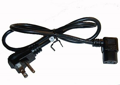AC Power Cable/Cord **2 RIGHT ANGLE** Wall Mount TV LCD