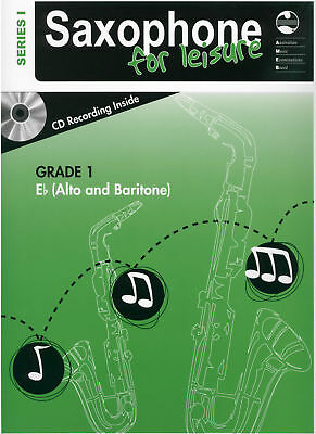 NEW AMEB Grade 1 Series 1 Saxophone For Leisure Eb + CD Alto & Baritone