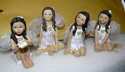 4 Figurines De Collections Fee Libellule