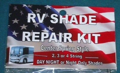 DELUXE RV Motorhome CAMPER Day Night COMPLETE SHADE REPAIR KIT w/Center Spring
