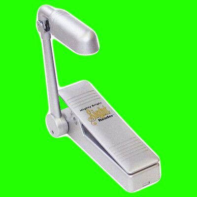 Mighty Bright Music Stand Light Silver Sight Reader Lamp Fully Adjustable Beam
