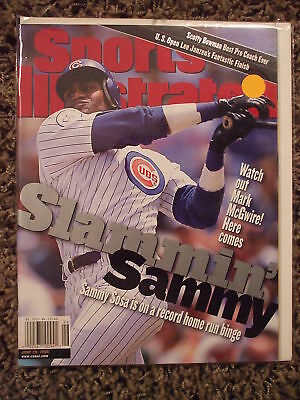 1998 Sports Illustrated-Chicago Cubs Sammy Sosa No Label Newstand Edition