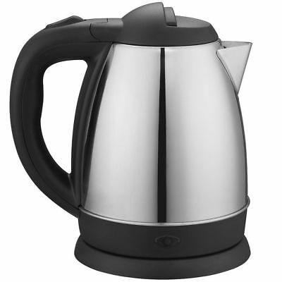 Maxim 0.9L Stainless Steel 360 Cordless Kettle 1500W Kitchen Water Electric Jug