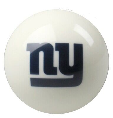 White New York Giants Nfl Billiard Game Table Pool Table Cue 8 Ball Replacement