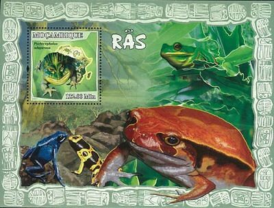 Mozambique 2007 Stamp, Frog, Animal, Marine Life S/S