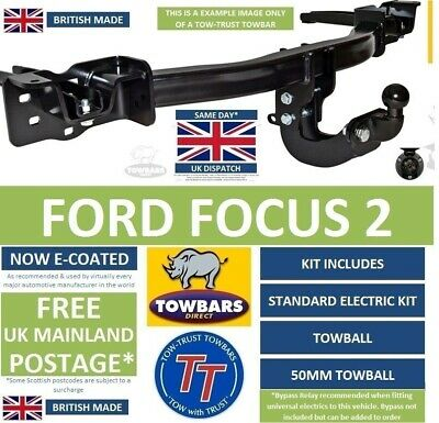 Towbar for Ford Focus 2 Hatchback, Saloon & CC 2005 to 2011 Tow Bar Kit TFD4